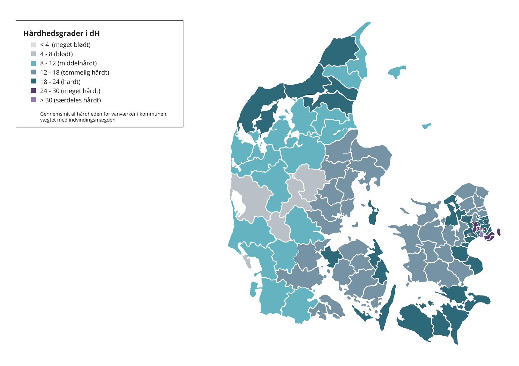 Hvor hårdt er vandet i din kommune? Find svaret her